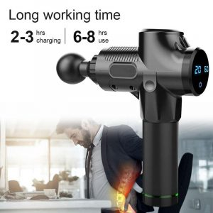 LCD display massage gun deep muscle massage