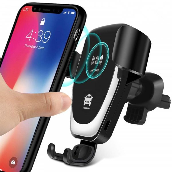 10W QI Wireless Charger Car Mount Holder Stand_0