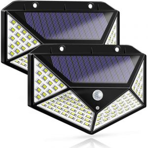 Four-Sided 100 LED Solar Power Wall Lights