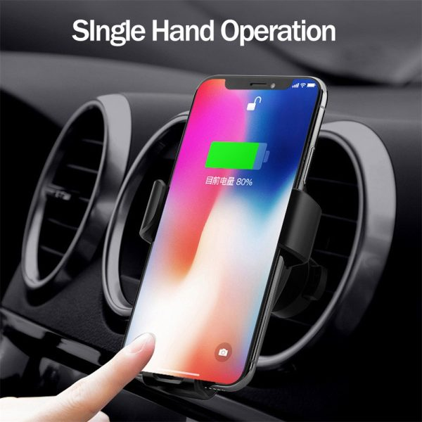 10W QI Wireless Charger Car Mount Holder Stand_1