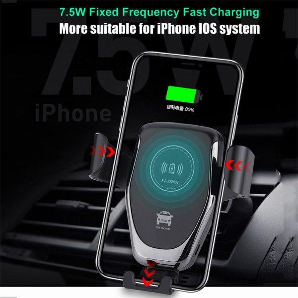 10W QI Wireless Charger Car Mount Holder Stand_4