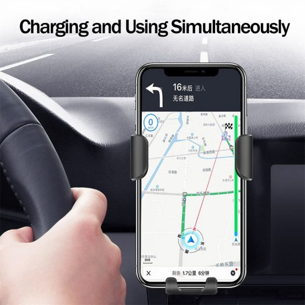 10W QI Wireless Charger Car Mount Holder Stand_5