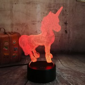 3D Unicorn Night Light with Remote Control