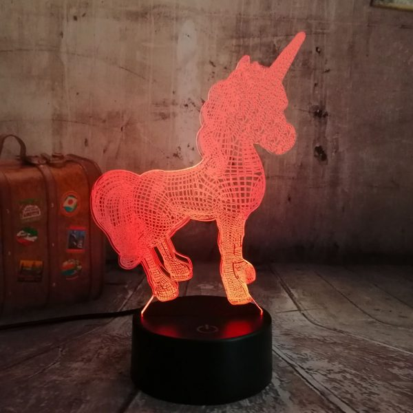 3D Unicorn Night Light with Remote Control_1