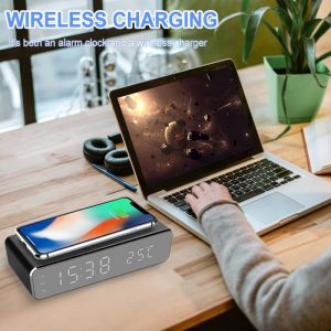 Wireless charger LED temperature alarm
