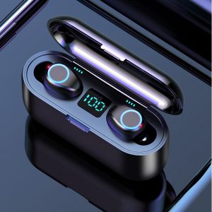F9 Bluetooth 5.0 TWS LED Button Wireless Earphones