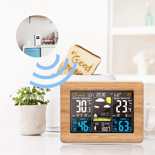 LCD Display Weather Station Alarm Clock_5