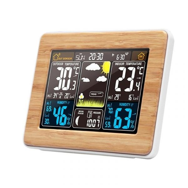 LCD Display Weather Station Alarm Clock_0