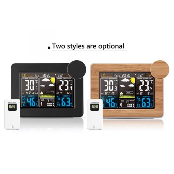 LCD Display Weather Station Alarm Clock_6
