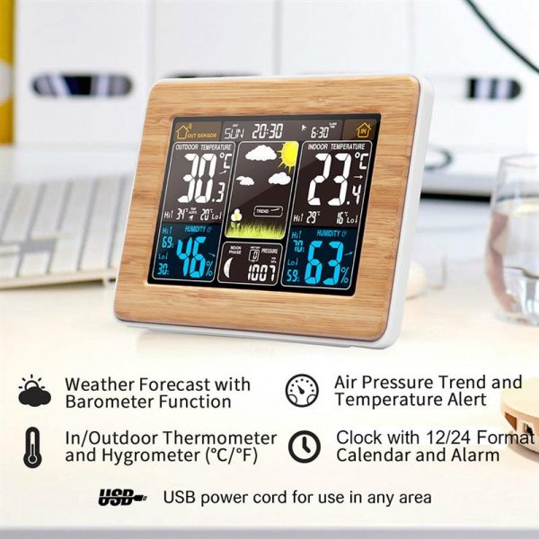 LCD Display Weather Station Alarm Clock_8