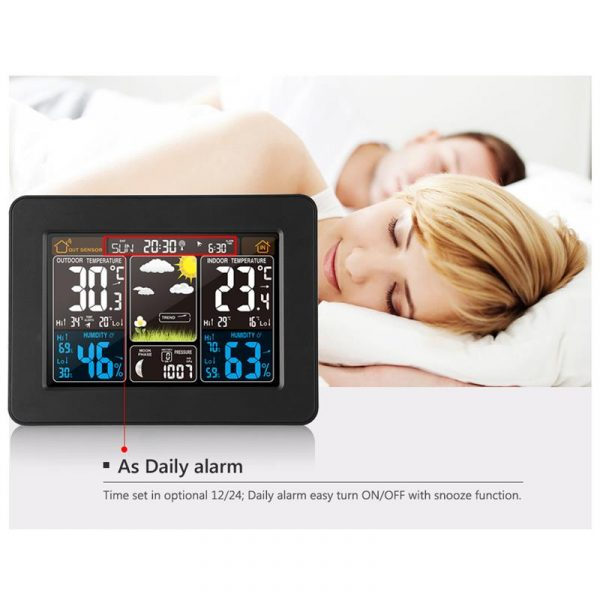 LCD Display Weather Station Alarm Clock_9