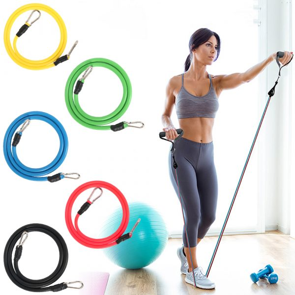 11 Pcs Fitness Pull Rope Latex Resistance Bands_3