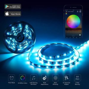 Smartphone Controlled LED Strip Light Kit