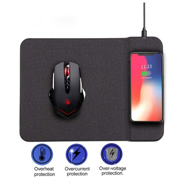 Qi-Enabled Fast Wireless Charging Mouse Pad_4
