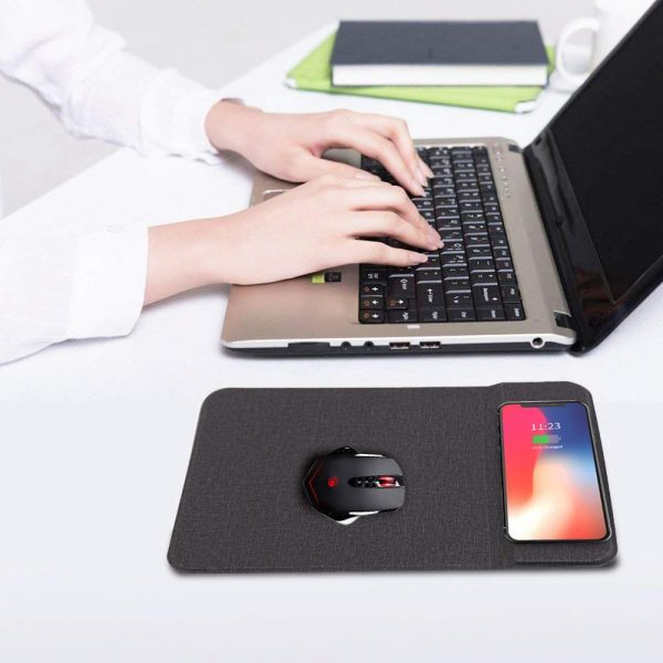 Qi-Enabled Fast Wireless Charging Mouse Pad_5