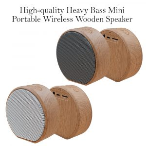 High-quality Heavy Bass Mini Portable Wireless Wooden Speaker