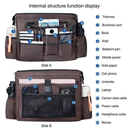 Business Laptop Tote Bag Waterproof with USB Charging Pocket_6