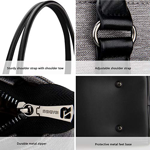 Business Laptop Tote Bag Waterproof with USB Charging Pocket_2