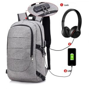 Waterproof Laptop Backpack with USB Port, Anti-theft