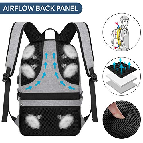 Waterproof Laptop Backpack with USB Port, Anti-theft_9