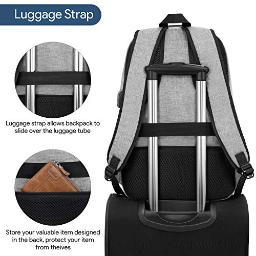 Waterproof Laptop Backpack with USB Port, Anti-theft_10
