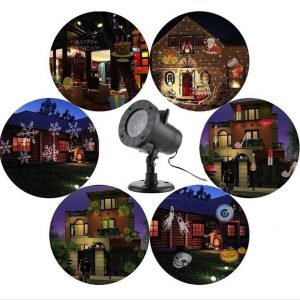 12 Patterns Christmas Projector Laser Lights