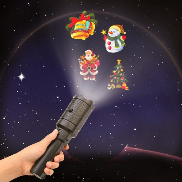 2-in-1 Handheld Portable Holiday 12 Slide Projector Light and Flashlight_1