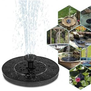 Environmental Friendly Solar Powered Decorative Fountain Birdbath Pump
