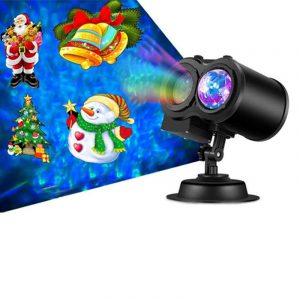 2 in 1 Christmas Holiday Projector Lights with Ocean wave Light 16 Film Options
