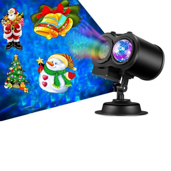 2 in 1 Christmas Holiday Projector Lights with Ocean wave Light 16 Film Options_1