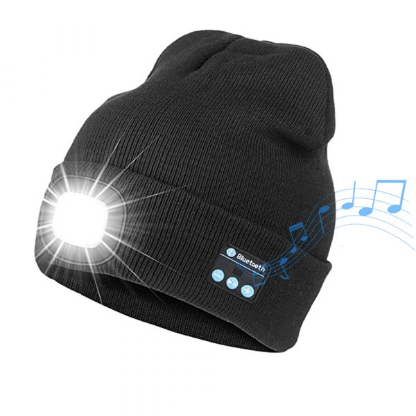 Bluetooth Music Knitted Hat with LED Lamp Cap_0