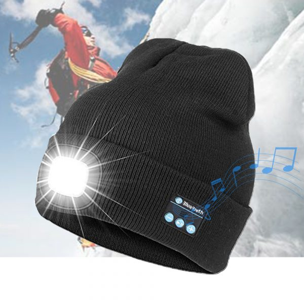 Bluetooth Music Knitted Hat with LED Lamp Cap_10
