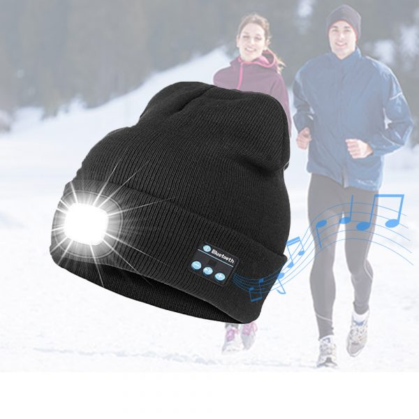 Bluetooth Music Knitted Hat with LED Lamp Cap_9