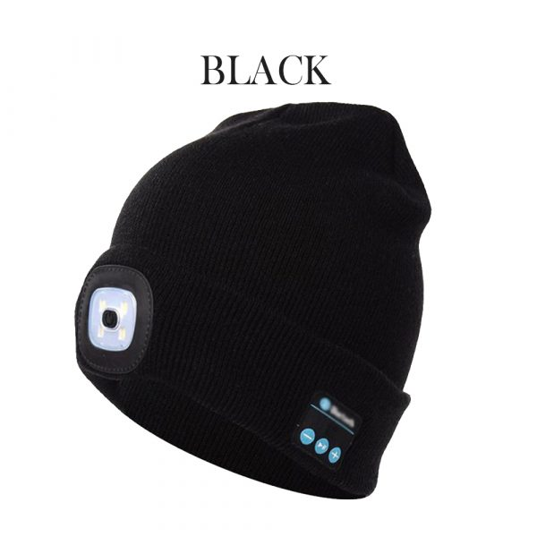 Bluetooth Music Knitted Hat with LED Lamp Cap_7