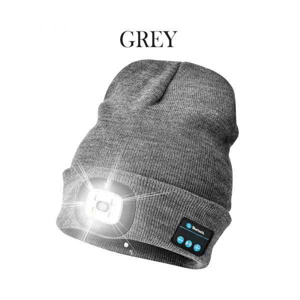 Bluetooth Music Knitted Hat with LED Lamp Cap_5