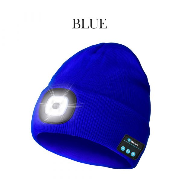 Bluetooth Music Knitted Hat with LED Lamp Cap_6
