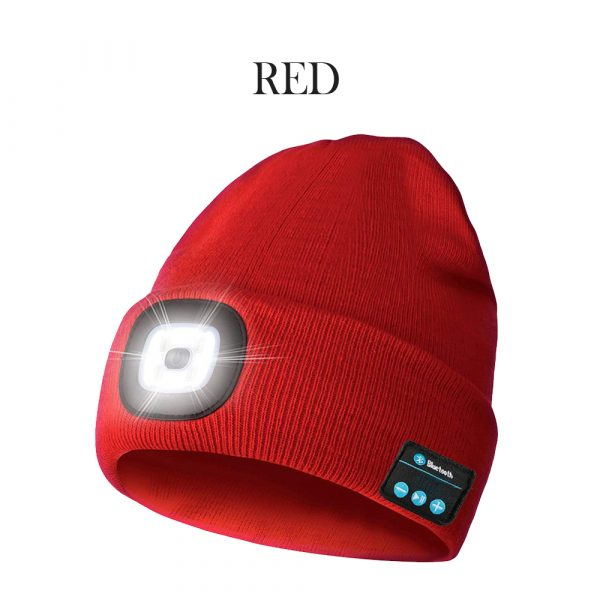 Bluetooth Music Knitted Hat with LED Lamp Cap_4