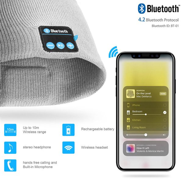Bluetooth Music Knitted Hat with LED Lamp Cap_11