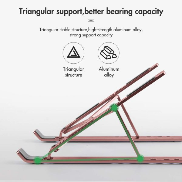 Notebook Computer Stand Anti-Skid Heat Dissipation Base Foldable Lifting Stand_2