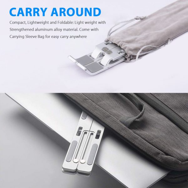 Notebook Computer Stand Anti-Skid Heat Dissipation Base Foldable Lifting Stand_3