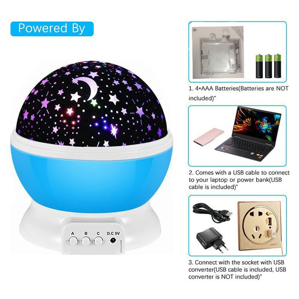 Unicorn Starry Sky Projector in 4 Colors_3