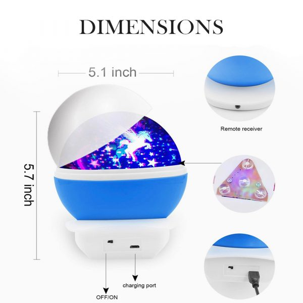 Unicorn Starry Sky Projector in 4 Colors_4