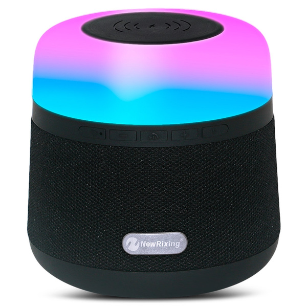 Portable Light LED Wireless Charger Bluetooth Speaker with Microphone Handheld USB_10