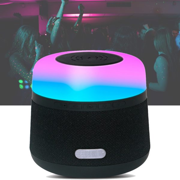 Portable Light LED Wireless Charger Bluetooth Speaker with Microphone Handheld USB_11