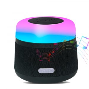 Portable Light LED Wireless Charger Bluetooth Speaker with Microphone Handheld USB