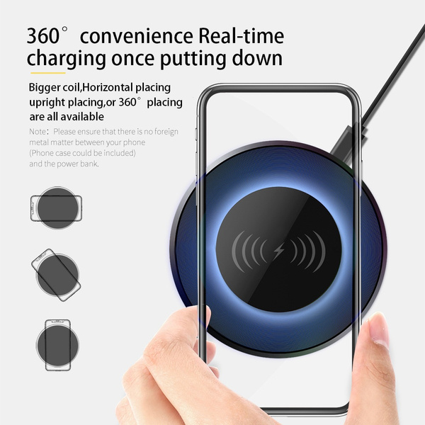 Portable Light LED Wireless Charger Bluetooth Speaker with Microphone Handheld USB_2