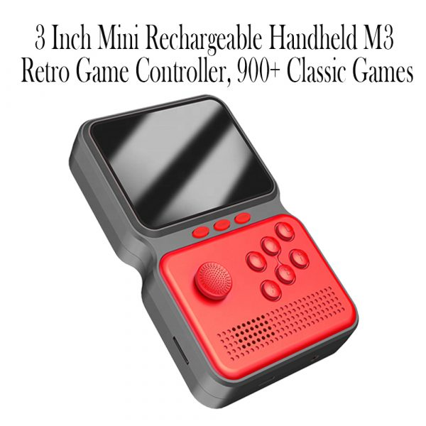 3 Inch Mini Rechargeable Handheld M3 Retro Game Controller, 900+ Classic Games_9