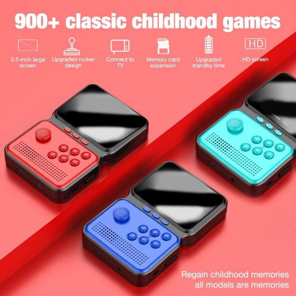 3 Inch Mini Rechargeable Handheld M3 Retro Game Controller, 900+ Classic Games_2
