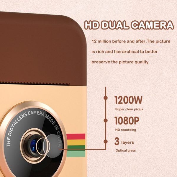 Polaroid Thermal Printing Children's Camera front and rear 12 million dual cameras with 2.4 inch IPS HD screen_12