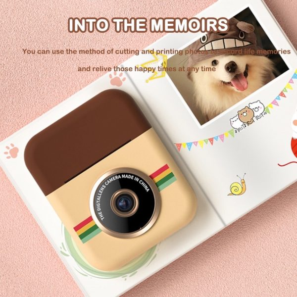 Polaroid Thermal Printing Children's Camera front and rear 12 million dual cameras with 2.4 inch IPS HD screen_13